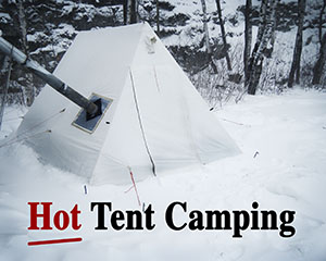 hot tent camping