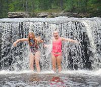 sandstone mn water falls