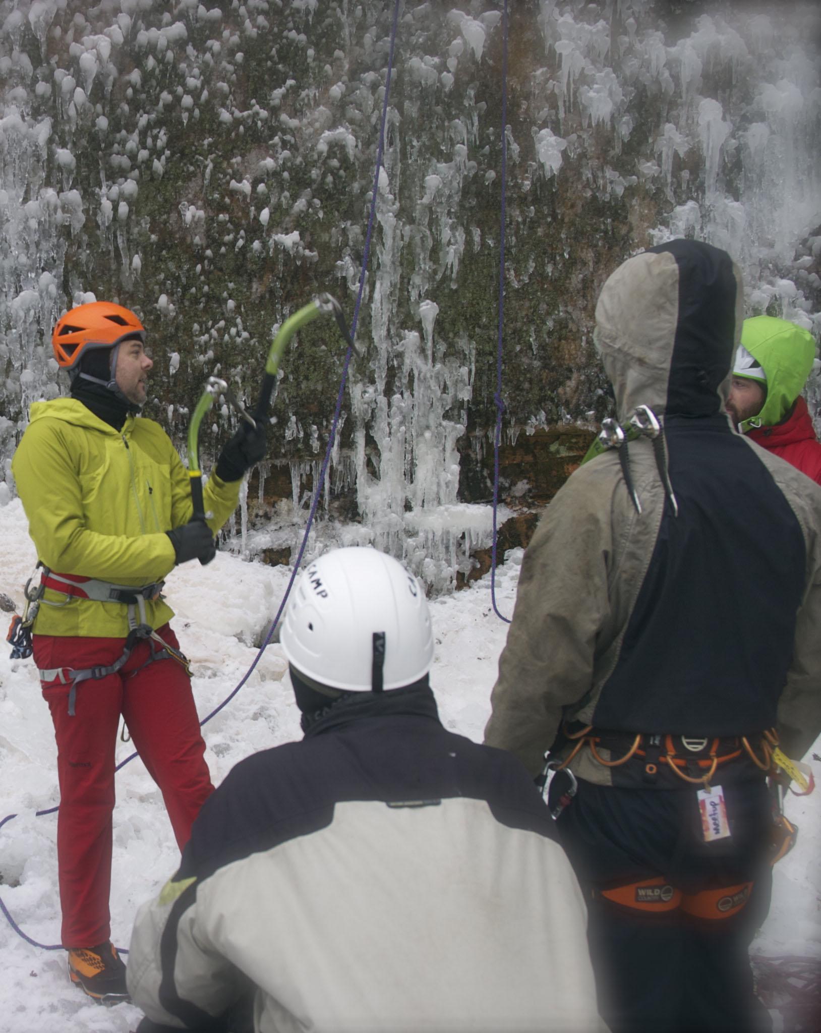 ice climbing clinic